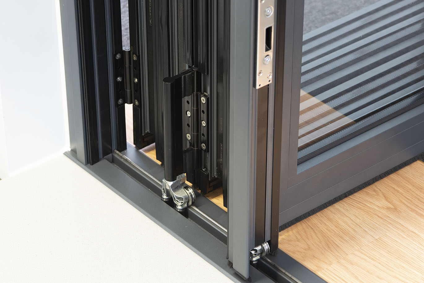 Cortizo BiFold Doors Bottom Rolls