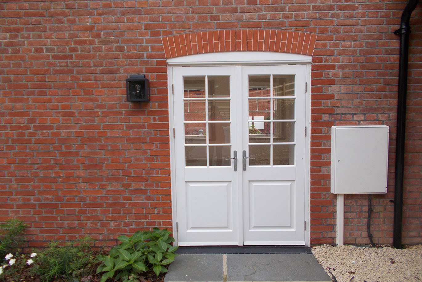 Timber Double Glazed White Entry Door