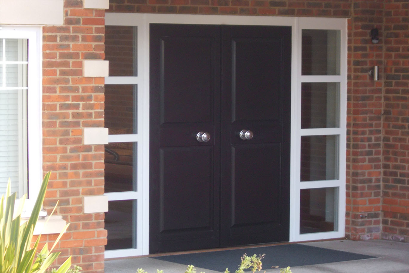 Black Timber Panelled Front Door