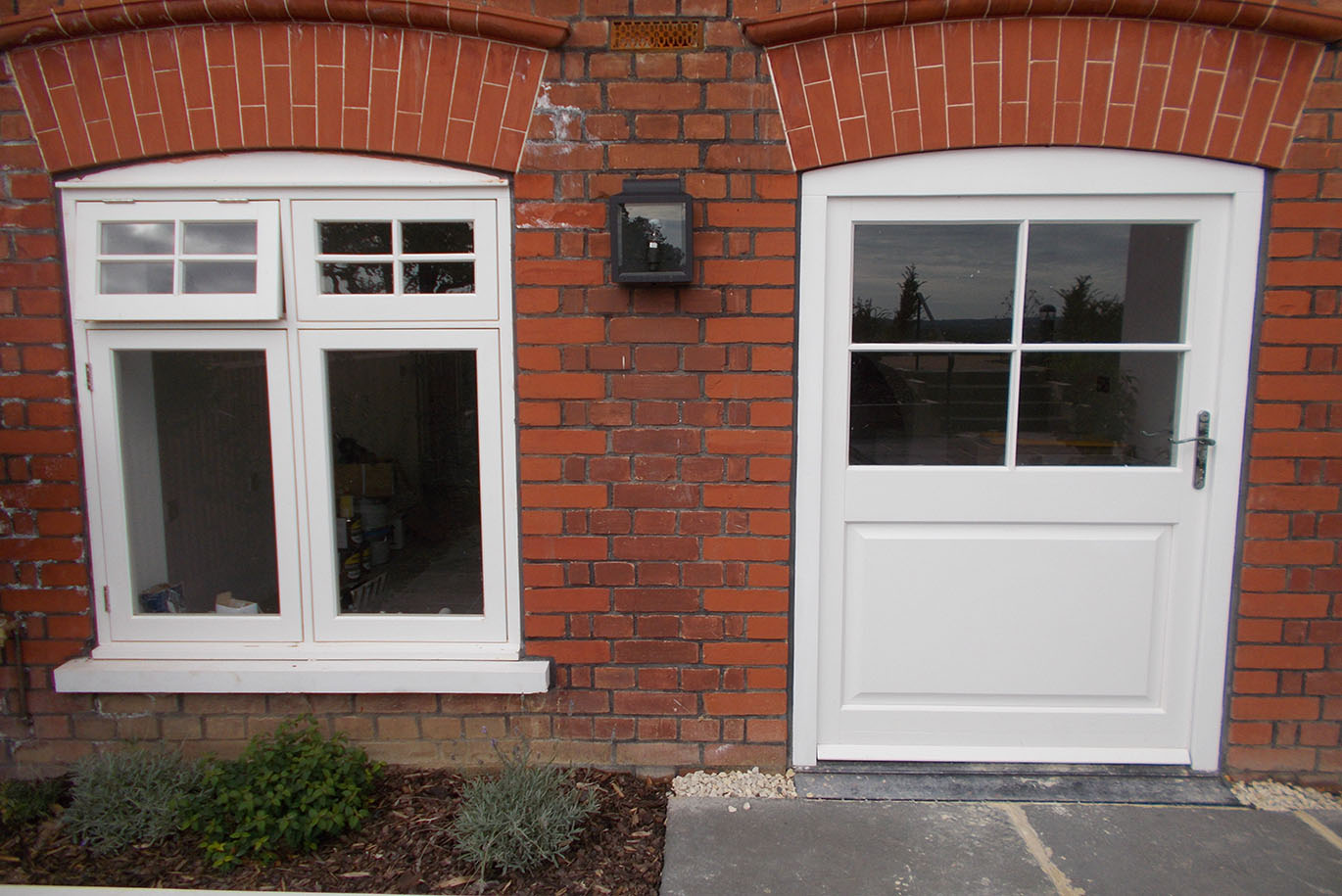 White Timber Exterior Door