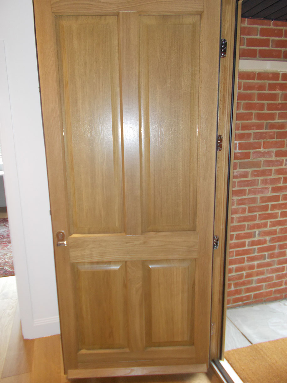Timber Veneered Panelled Front Door
