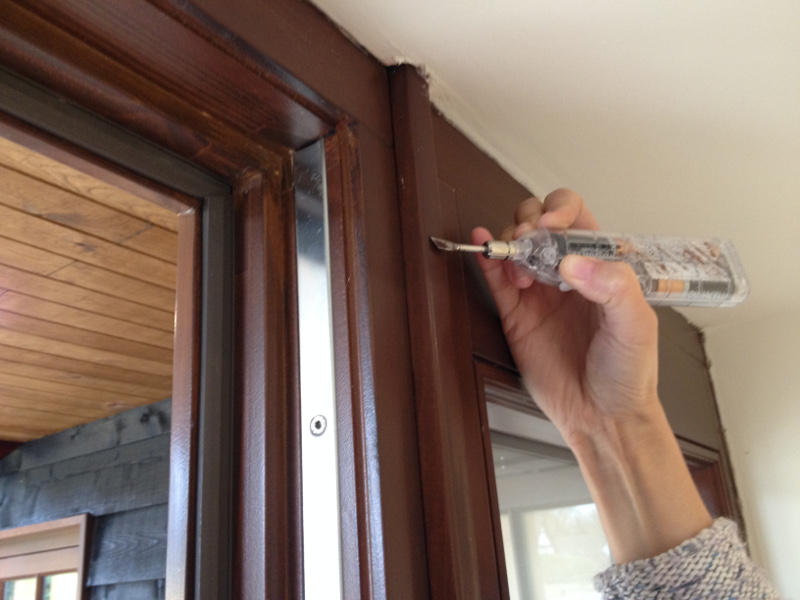Remedial work on a window frame