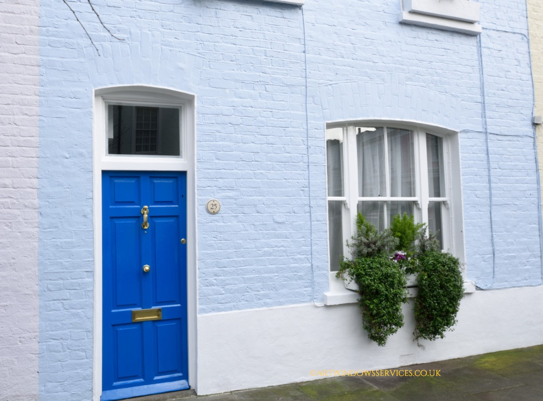 Cobalt Blue Timber Doors