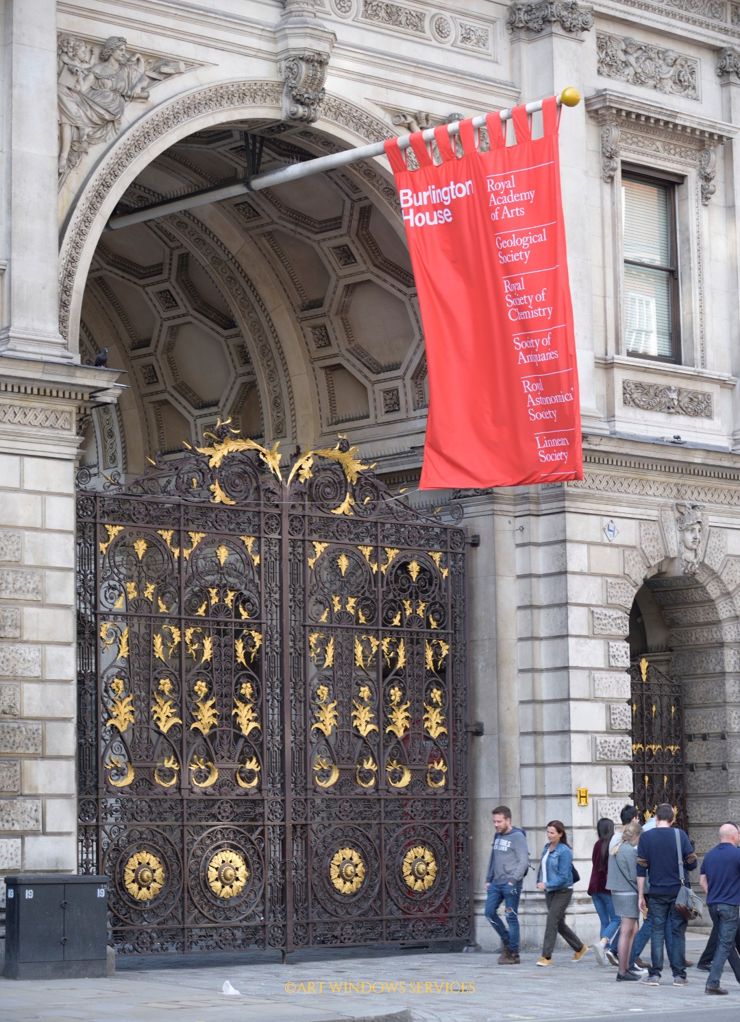 The Burlington House Gate. The entrance to the Royal Academy of Arts