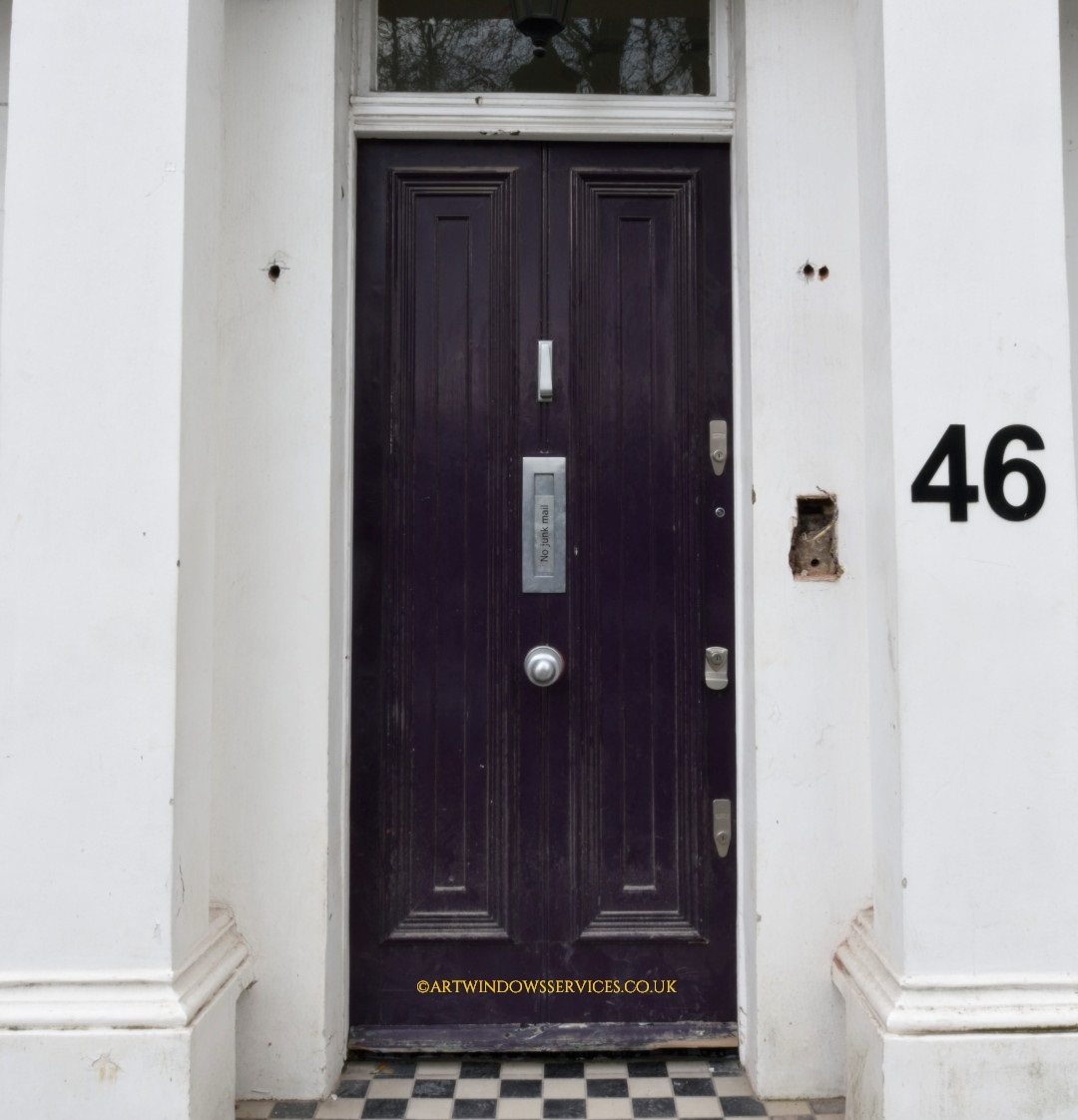 Aubergine Timber Front Door Notting Hill London
