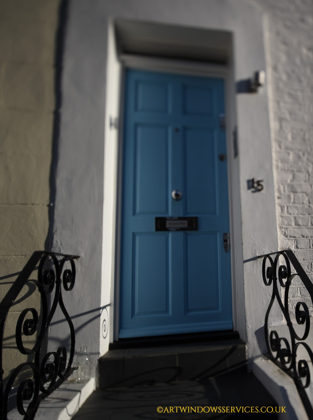 Blue Timber Door