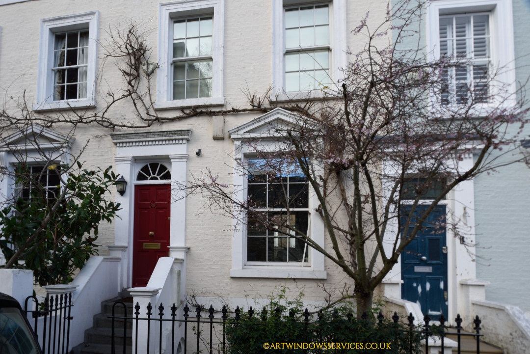 Red Timber Front Doors Notting Hill in London
