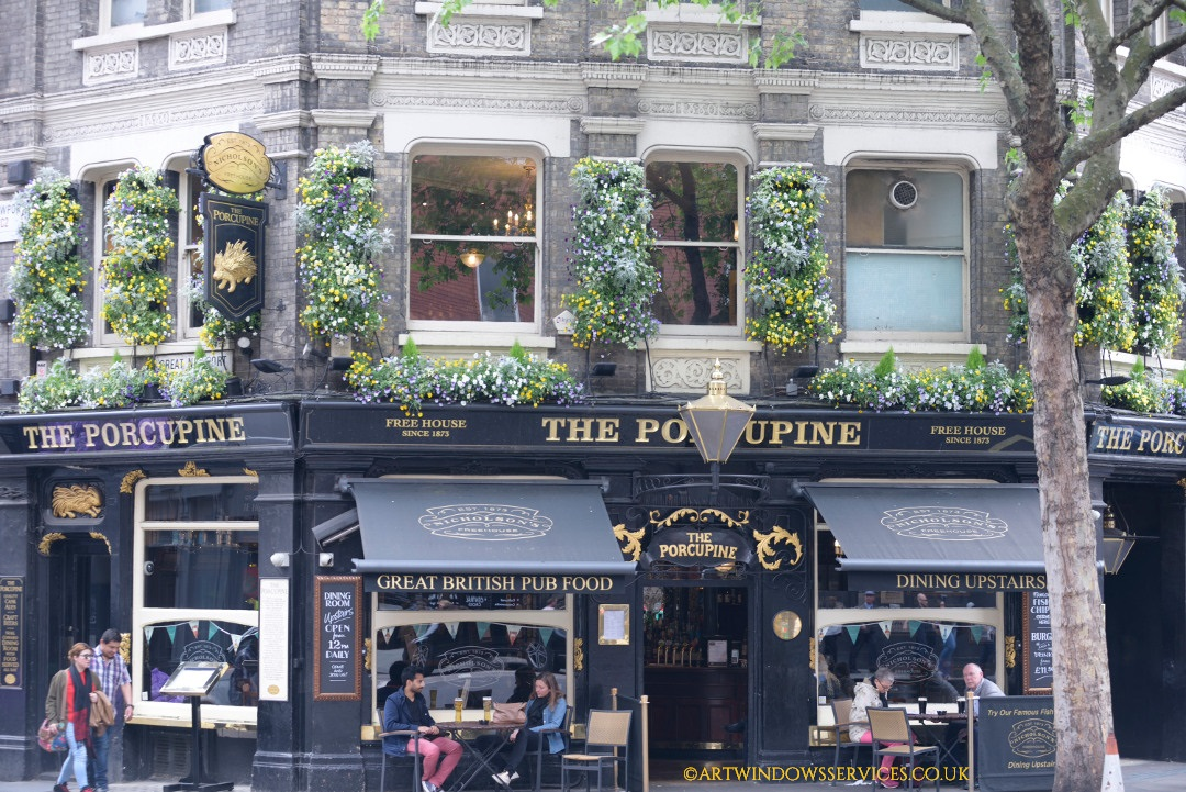 The Porcupine Pub timber windows timber doors