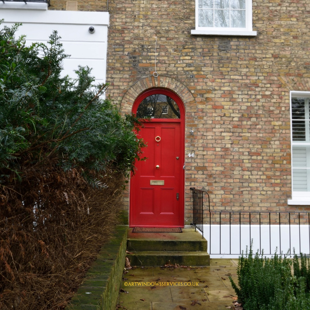 Red Entry Timber Door Notting Hill