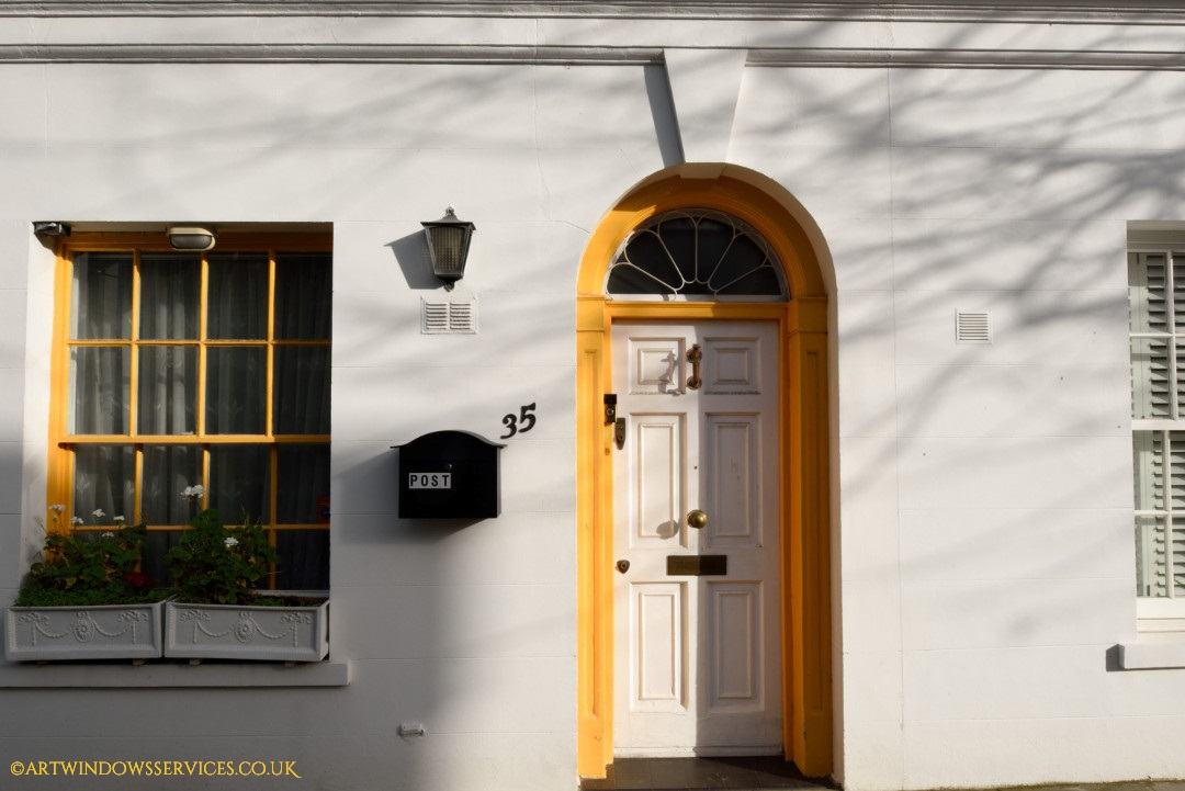 Yellow and White Timber Doors